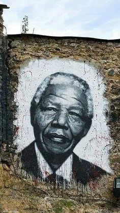 Street Art Portrait of Madiba, Cape Town - a graffiti painting of the late Nelson Mandela - our beloved President  #mandela  #cape_town