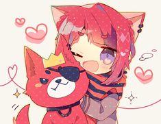 画像 Anime Neko, Kawaii Anime, Anime Cat Boy, Neko Boy, Kawaii Chibi, Cute Chibi, Cute Anime Boy, Anime Art, Chibi Girl