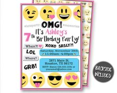 emoji invitations – Etsy