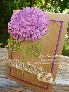 Thoughtful Branches, Stampin' Up! Hydrangea With a bow on top: International Blog Hop - highlighting Stampin' Up! products