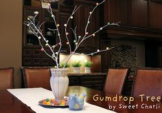 Gum drop tree...my Mom made one every year out of a branch from our yard. Memories