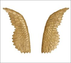 Golden Carved Wood Wings | Pottery Barn