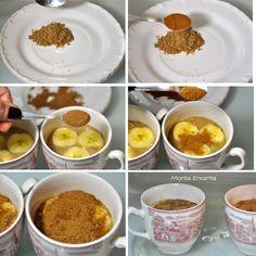 como fazer bolo de caneca de banana no microondas