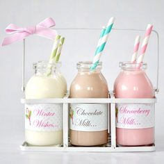 milk - vanilla, chocolate, and strawberry! <3