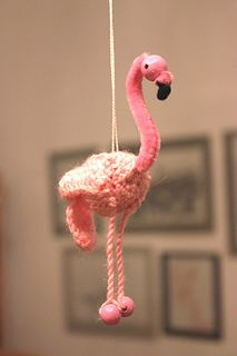 Miniature Flamingo Amigurumi - Free Pattern - PDF Download