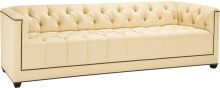 No. 6369-97PARIS SOFA A contemporized Chesterfield. Extensive nail head trim adds a graphic detail framing the silhouette. Tapered block feet.Intended for a great room, it can work to divide a space or provide a visual platform for artwork. A low back and a trim arm make it relevant for both traditional and contemporary interiors. With four legitimate seats, this is often the sofa of choice for those who entertain.