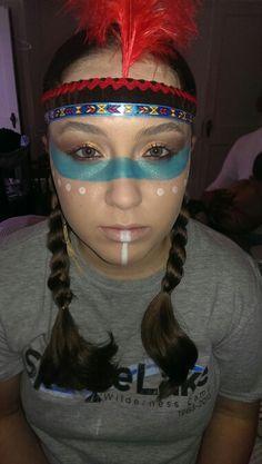 Simple Pocahontas Makeup