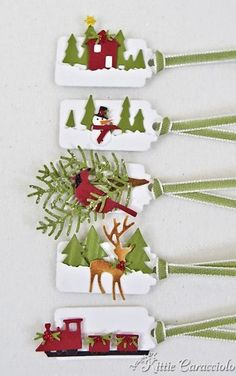 Mini Christmas Tags by kittie747 - Cards and Paper Crafts at Splitcoaststampers