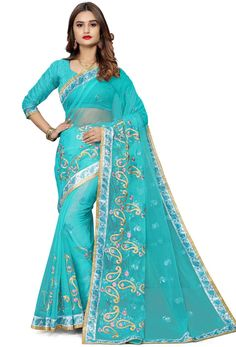 #Net #Sarees is one of the #best #indian #ethnic #dress, it is very #classic and #loved by the each and every #womens. #Nikvik is the #bestseller of #net #saree in #USA #AUSTRALIA #CANADA #UAE #UK Light Blue Blouse, Net Blouses, Quality Lingerie, Embroidery Saree, Blue Saree, Net Saree, Art Silk Sarees, Beautiful Costumes, Fancy Sarees