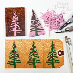 DIY Christmas tree stamp
