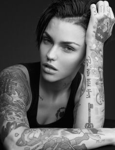 Ruby Rose tattoos are so obvious that you cannot read any news headline without the mention of them. Description from tattoo-journal.com. I searched for this on bing.com/images