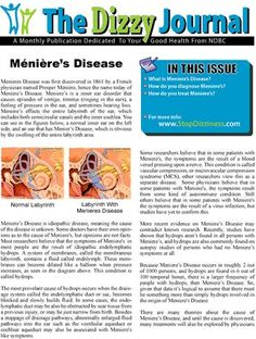 "National Dizzy & Balance Center ""Dizzy Journal"" on Menieres Disease Meneires Disease, Autoimmune Disease, Tinnitus Symptoms, Low Sodium Diet, Running Songs, Ab Routine, Inner Ear, Lose 40 Pounds, Fitness Photos"