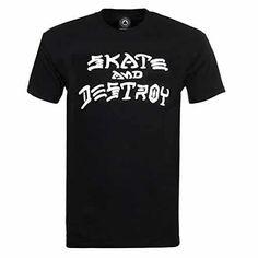 Thrasher Skate and Destroy Short Sleeve T-Shirt-Black 85480e14ae2f8