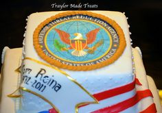Traylor Made Treats: Military Retirement Cake