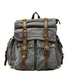 Look what I found on #zulily! J. Campbell Charcoal Vintage Buckle Backpack by J. Campbell #zulilyfinds