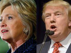 Hillary Clinton em Waterloo, Iowa, na segunda (11) e Donald Trump em Reno, Nevada, no domingo (10) (Foto: Reuters/Aaron P. Bernstein/James Glover II )
