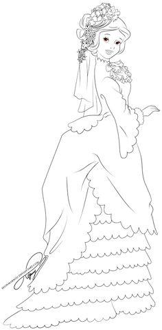 Lineart - Vintage Princess Snow White by selinmarsou on deviantART