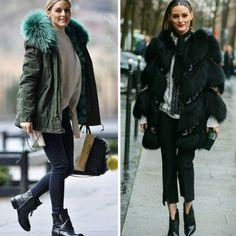 Da casual a mais formal, Olivia Palermo e suas combinações inspiradoras com casaco felpudo. #oliviapalermo #creative #fashion #styles #fauxfur #coats #inspirations