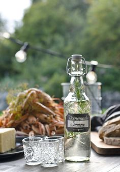 Make your own homemade Snaps and put it in a nice bottle - Find the things you need for a great crayfish party at #lagerhaus