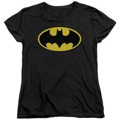 Batman Classic Logo Short Sleeve Womens Tee Shirt