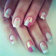 Patchwork nails.