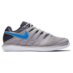 official photos d3ca3 4cbfd Nike Air Zoom Vapor X Mens Tennis Shoe - Atmosphere Grey Photo Blue White