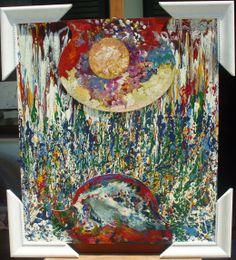 """Frammenti """"sole e mare"""" cm.78x78 a.1989-2000"""