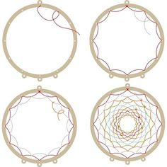 Wooden support to make a dream catcher - Artemio - - Making Dream Catchers, Dream Catcher Decor, Dream Catcher Boho, Homemade Dream Catchers, Diy Crafts Hacks, Diy Home Crafts, Cool Diy Projects, Diy Dream Catcher Tutorial, Dream Catcher Patterns