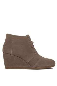 TOMS Desert Wedges - Taupe Suede