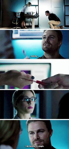 """Felicity... I do believe in magic"" - Oliver and Felicity #Arrow"