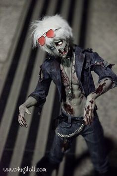 Zombie SOL is a limited doll for this Halloween from Dark Ringdoll--order accepted from 9/1/2012--10/31/2012.  Ringdoll company will try to complete the September orders before the middle of October.