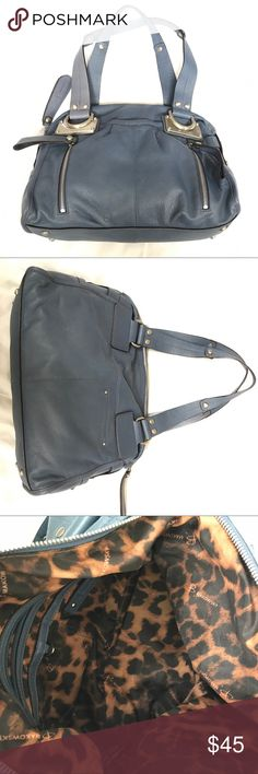 B. Makowsky Blue Silver Leather Shoulder Bag To be Written. Bundle to save 20% on your order and I love offers! b. makowsky Bags Shoulder Bags