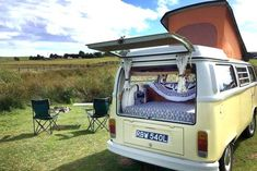 VW Campervan hire from Kippford Classic Car Hire. Contact us to hire your VW Camper today Vw Campervan Hire, Scotland Tours, Camper Interior, Modern Essentials, Self Driving, Built In Storage, Car Detailing, Floor Rugs, Solar Panels