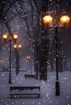 Inspiration Whispers to Your Dreams ღ : Photo Winter Szenen, Winter Night, Winter Time, Winter Christmas, London Christmas, Christmas Art, Beautiful Winter Scenes, Beautiful Gif, Beautiful Pictures