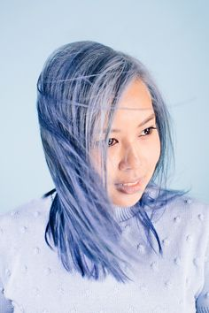 Pastel blue hair // What Pastel Hair Means For Women Of Color - http://www.refinery29.com/pastel-hair#slide3