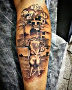 Soccer Tattoos, Boy Tattoos, Sleeve Tattoos, Forarm Tattoos, Chicano Tattoos, I Tattoo, Tattoo Avant Bras, Ink Link, Inner Bicep Tattoo