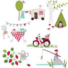 I remember one Summer. NEW Syko card collection 2012 by syko Quilt Patterns Free, Applique Patterns, Applique Designs, Embroidery Applique, Machine Embroidery, Planner Doodles, Summer Dream, Summer Fun, Sewing Appliques