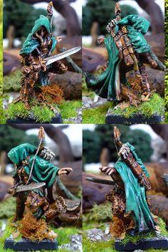 Nienna, montaraz elfa, de la gama Dark Heaven Legends de Reaper, esculpida por Warner Klocke y pintada por Endakil (http://frikidiario.blogspot.com.es/)