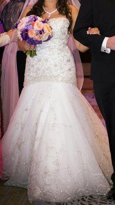 Lazaro '3217' size 10 used wedding dress - Nearly Newlywed