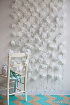 Ideas for handmade - Paper curtains in the interior with their own hands (14 pictures). More ideas: http://wonderdump.com/ideas-for-handmade-paper-curtains-in-the-interior-with-their-own-hands-14-pictures/