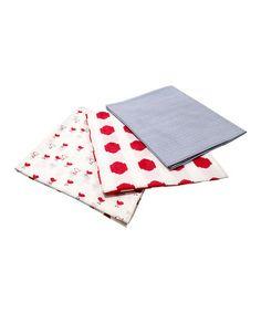 Red & Blue Swaddling Blanket Set #zulily #zulilyfinds