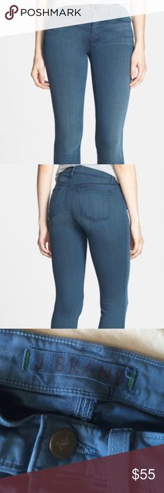 """J Brand Mid Rise Skinny Jeans Heaven size 24 This is a pair of J Brand pair of skinny jeans size 24. .Mid-Rise Slim fit Five pocket styling Button and zip fly closure  Color: Heaven 74% Cotton, 24% Nylon, 2% Elastane Wash Inside Out in Cold Water Length: 38.5"""" Inseam: 29.5"""" Front Rise: 8"""" Back Rise: 13"""" size 24 J Brand Jeans Skinny"""