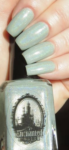 Enchanted Polish - A Little Fishy Told Me Manicure just swatched on a nail stick