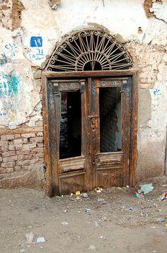 door in Esna, Egypt.
