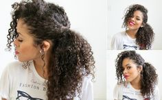 Penteados fáceis para cabelos cacheados - E aí, Beleza?