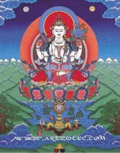 Avalokiteshvara (Chenrezig) by artzotec.deviantart.com on @DeviantArt