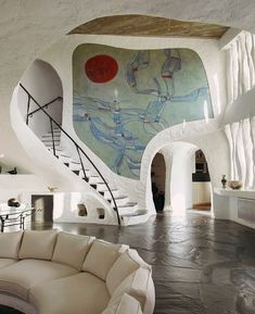 Modern house designs - Discover the unique design ideas of a modern home here. There are 21 examples of home design ideas created by professional architects Dream Home Design, My Dream Home, House Design, Dream Homes, Exterior Design, Interior And Exterior, Cob House Interior, Interior Livingroom, Retro Interior Design