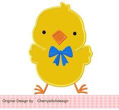 Cute Chick Applique 4x4 5x7 6x10Machine by CherryStitchDesign, $2.99