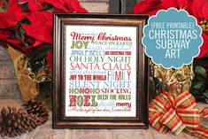 Christmas Subway Art {free printable} - Super Fun and FREE. This gal is talented!