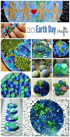 20 Earth Day Crafts and Activities for Kids - 20 Earth Day activities for kids ~ lots of simple crafts for kids 20 Earth Day activities for kids - Earth Day Activities, Spring Activities, Holiday Activities, Preschool Activities, Holiday Crafts, Preschool Classroom, Earth Day Projects, Earth Day Crafts, Earth Craft